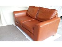 Marks &Spencer Two seater tan leather sofa
