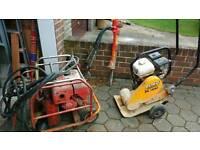 Heavy duty hydraulic jcb. Breaker with hammer.£340. Also honda Wacker plate.£340.