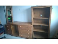 4 Pine Furniture pieces. .