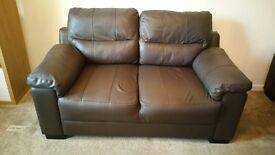 Sofa brown x2 (good condition)
