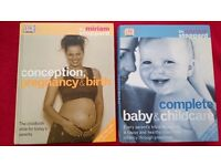 2 Large Books about Pregnancy and Childcare