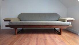 Retro mid-century danish style daybed sofa