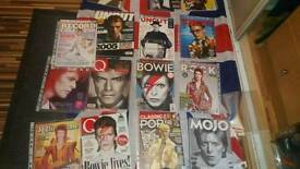 40 quality David bowie magazines some with free cds all mint conditions