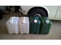 4 x water containers