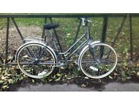 Vintage Ladies Town Road Bike Bicycle. Fully Serviced, Ready To Ride & Guaranteed. 3 Speed.