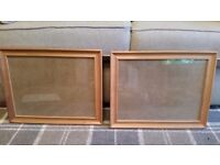 PAIR OF IKEA FANAHOLM SOLID PINE PICTURE FRAMES 15 × 11 INCHES