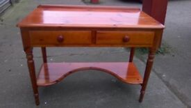 Stunning LOVELACE pine two tier dressing table/desk