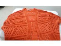 ladies orange cardigan.. shawl