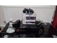 XBOX 360E WITH GAMES AND EXTRAS FOR SALE