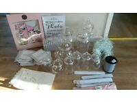 wedding party decorations and sweet jars