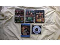 Pirates of the Carribean & Sharpe DVD's