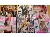 8 Vogue Magazines and 3 Elle Magazines Back numbers 50p each
