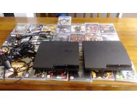 2x ps3 consoles. 2x ps3 controllers. 35 games