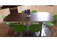 Black Laminate Dining Table