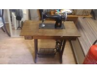 Antique Vintage Singer Sewing Machine with Wooden Table