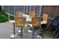 6 beautiful office chairs , can as well serve other purposes for sale, need gone ASAP.