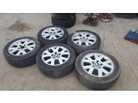 2002 BMW 318 i 205/45 ZR16 205 45 ZR16 Alloys with Tyres