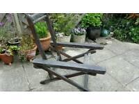 Vintage teak steamer style garden chair