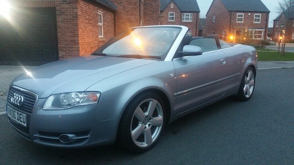 5c88b5599 2006 (06 REG) AUDI A4 1.8 T S LINE, CONVERTIBLE, SILVER WITH BLACK LEATHER,  MUST SEE