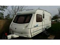 4 berth fixed bed caravan 2004
