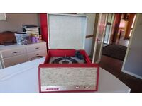 VINTAGE 1960S ALBA 212 PORTABLE MAINS VINYL BSR RECORD PLAYER SERVICED NEW CARTRIDGE FAB DECOR VGWO