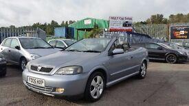 2005 (05 Reg) Vauxhall Astra Convertible 1.6 16v 12 Months Mot, 84k £495 Bargain!