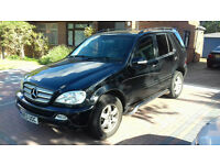 mercedes ml 270 cdi inspiration model.7 seater,full leather,years mot,drives perfect,many new parts.