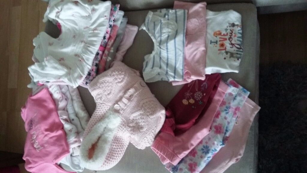 Lovely bundle of 0-3 baby girl clothes