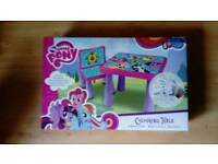 My little pony colouring table with chair