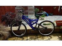 """Gents blue 26"""" baseline mountain bike"""