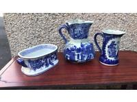 Collection of blue and white porcelain