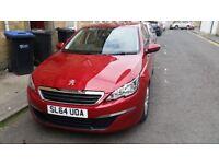 Red Peugeot 308 5 Door 1.6 HDi Active - 30155 Miles