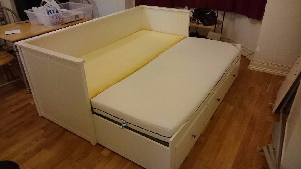 Jugendbett Mit Unterbett Ikea ~ IKEA  Hemnes  double day bed + two  Sultan  single foam m