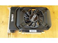 Palit GTX 1050 graphics card with 2GB VRAM - excellent condition, boxed