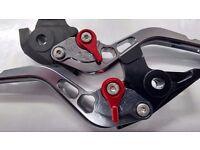 Honda VFR 400 NC30 Adjustable Levers Red Adjusters (Shorty)