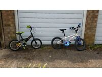 two kids bikes. working order.would suit 4years and older.