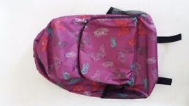 Pretty pink waterproof backpack for sale