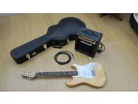 Marshall MG10 Amp, Tiger Electric Guitar, Ibanez Hard Case