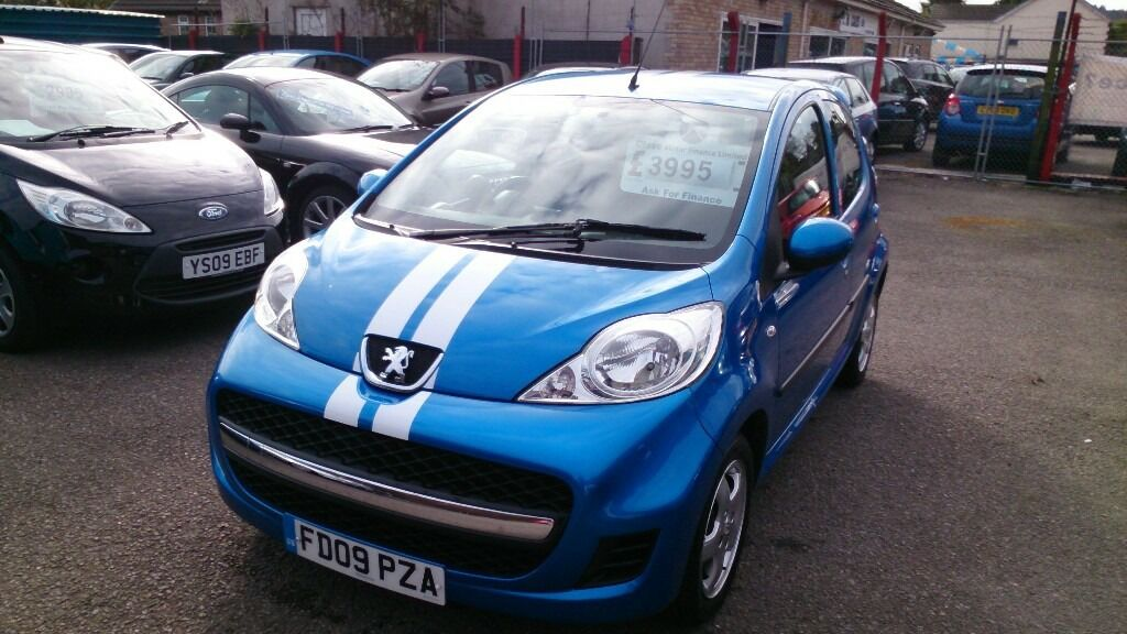 very low mileage 2009 peugeot 107 verve 1.0l 5 door met blue sept