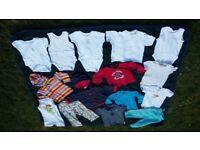 Baby boy 6-9 months bundle of trousers, vest, tops, pants * 15 items
