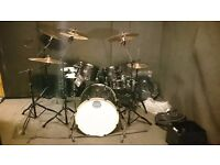 Mapex Armory drumkit with stands and cases and Zildjian cymbals