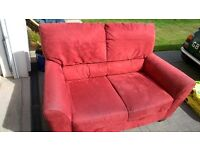 Free 2 seater red Ikea sofa, good condition