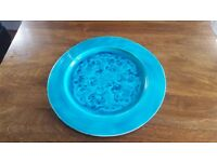 12 Inch Ornamental Plate Duckegg Duck Egg Teal Turquoise Blue Green