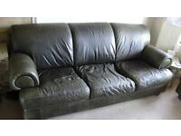 Barker and Stonehouse two sofas and arm chair leather three piece suite - £3000 when new