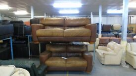 PRE OWNED 3 seater + 2 seater in Tan Leather