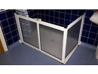 disability / easy access shower screen and rail 800mm x 1200mm