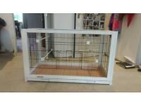 Beautiful white wood bird cage