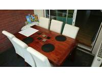 Argos 6 Seater Dining Table with 6 Chairs