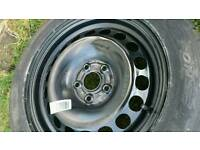 VW Passat B6 (2005-2010) Single Steel Spare Wheel 215/55/R16