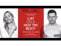 2 x Fantastic tickets for Cat on a Hot Tin Roof Friday 25th August